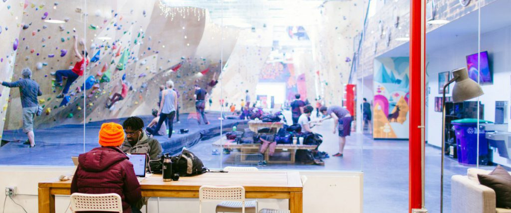 Brooklyn Boulders – Co-Working Whilst Rock-Climbing